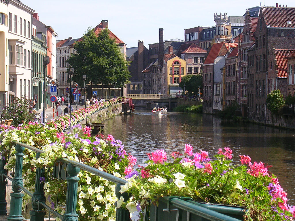 Flowers on the canal
